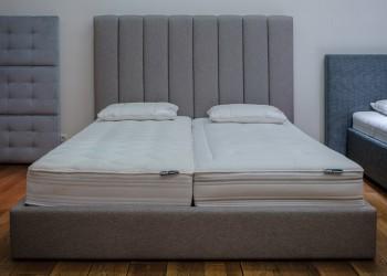 Кровать с вертикальной стёжкой спинки