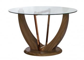 Стол обеденный со стеклом круглый G
